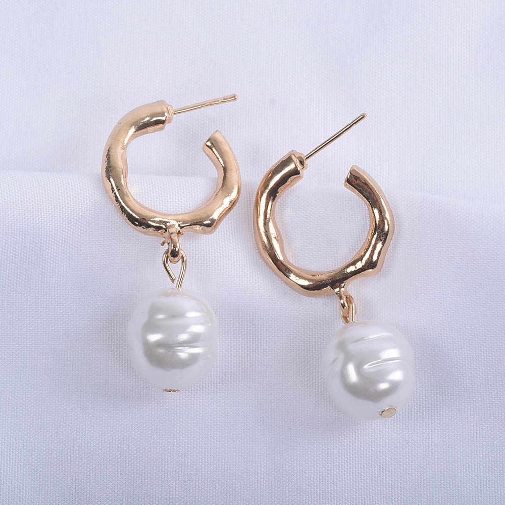 2019 New za Imitation Pearls Earrings Women Vintage Jewelry Fashion Simple Boho Statement Long Dangle Earring Femme Wedding Gift