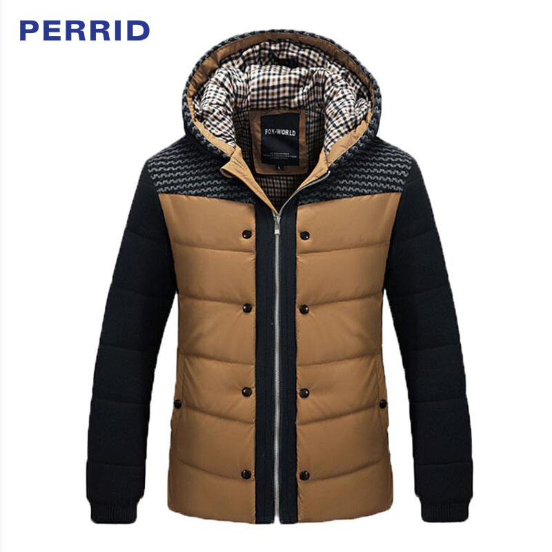 High Qualtiy Fashion Winter Jacket Men Thermal Cotton-padded Overcoat Casual Hooded Brand Men's Thick Winter Coat Men Clothing