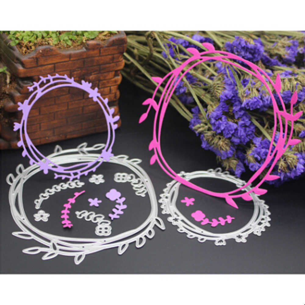 Lace Wreath Frame Craft Die Valentine's Metal Cutting Dies 3D DIY Scrapbooking Stamping Photo Album Invitation Card Making Decor