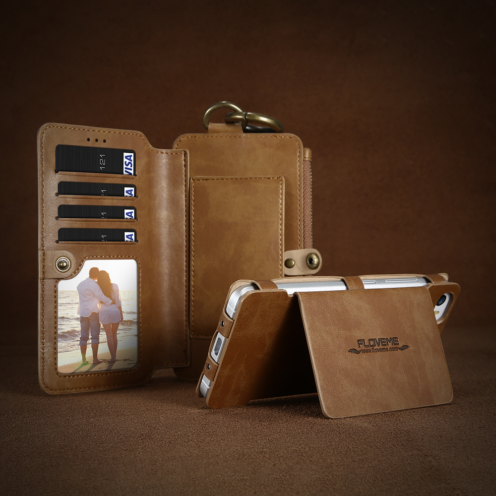 Leather Wallet and Card Phone Bag Case 4