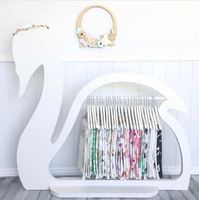 Hight Quality Wooden Swan Clothes Drying Rack Hanging Garment Bar Heavy Duty Hanger Shoes Rack