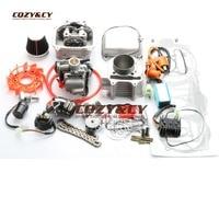 200cc большого диаметра комплект, производительность катушки конденсаторное зажигание с кабелем A14 Cam для GY6 150cc 157QMJ 63 мм китайский скутер