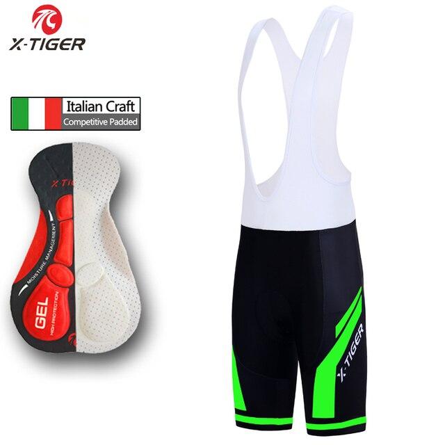 X Tiger Cycling Bib Shorts Moisture Wicking Mountain Bike Shorts