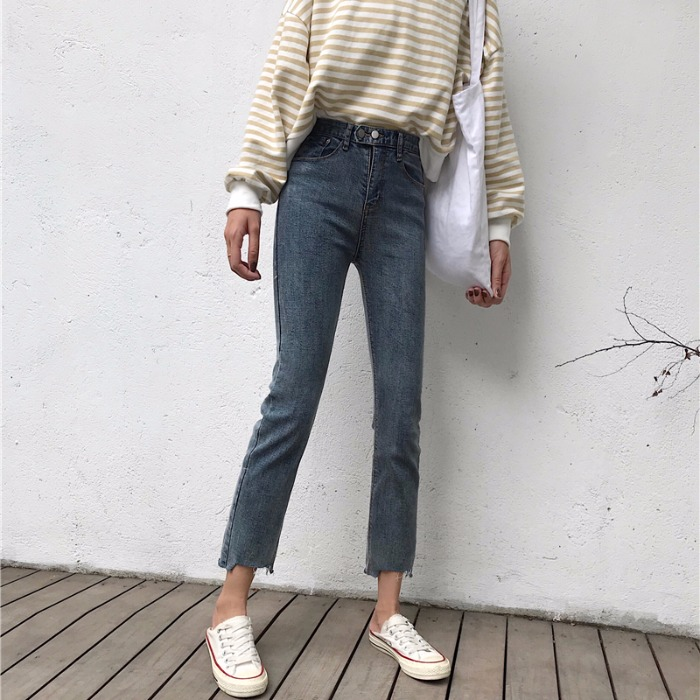 Cheap Wholesale 2019 New Spring Summer Hot Selling Women's Fashion Casual  Denim Pants NC26