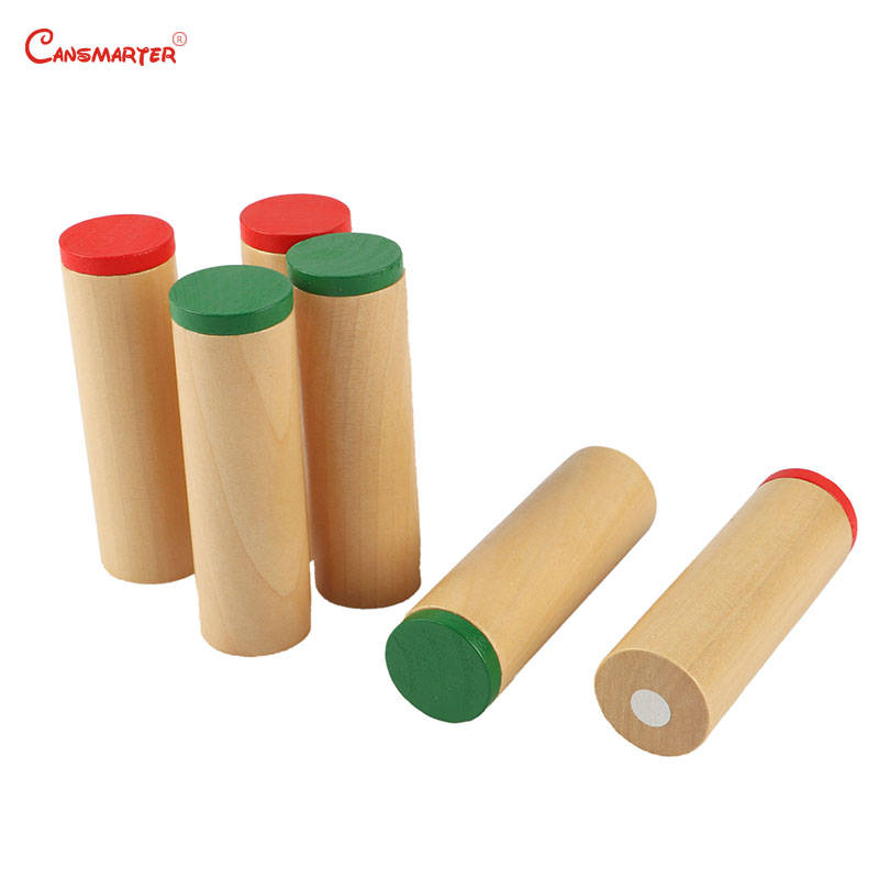 Beech Wood Montessori Sensory Wooden Toys Sound Boxs Teaching Aids Children Preschool Educational Toys Sensorial Maths