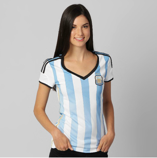 ce2bb5413 World Cup 2014 T Shirt Women Soccer Jerseys Custom Name Argentina  blut white Home Futbol Camis Brazil Cup Female