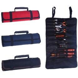 Hoomall ferramenta multifuncional sacos de transporte prático alças oxford lona chave sacos de rolo de armazenamento ferramentas 3 cores instrumento caso
