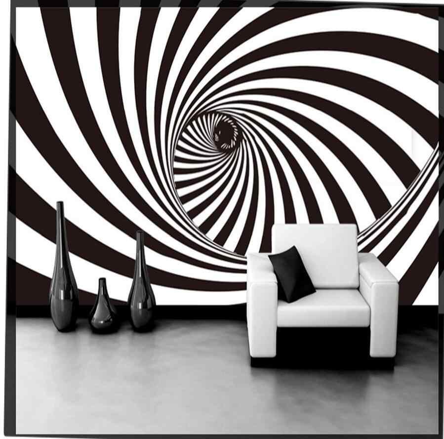 Aldo verdi è un negozio di parati specializzato: 3d Astratto Nero Bianco Vortice Tunnel Foto Carta Da Parati Carta Da Parati Soggiorno Carte Da Parati Rotoli Decorazioni Per La Casa 3d Pappagallo De Parede 3d Wallpapers Aliexpress