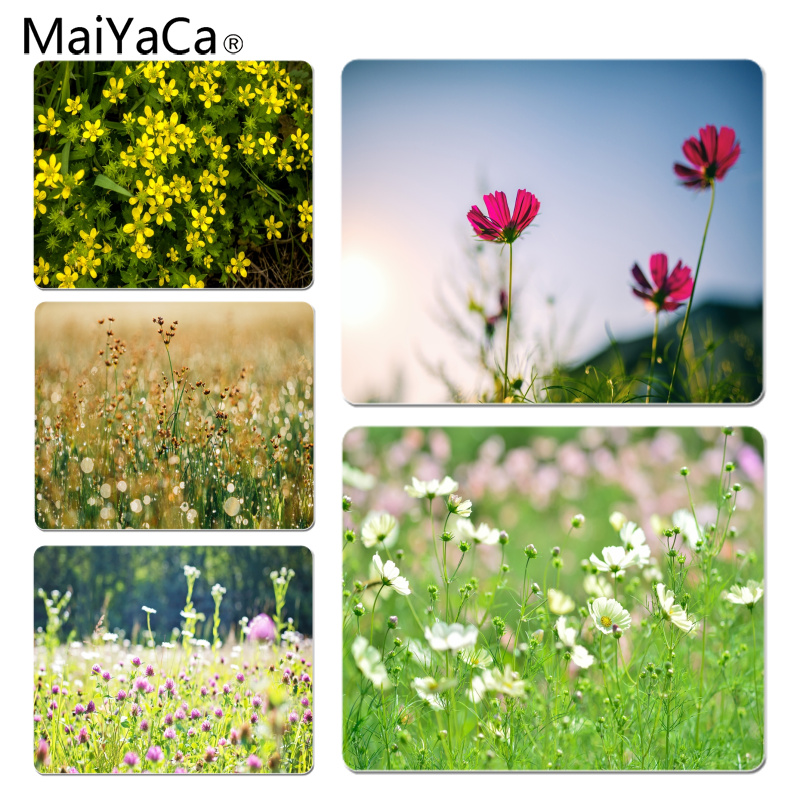 MaiYaCa My Favorite Clean Wildflowers Customized laptop Gaming mouse pad Size for 18x22cm 25x29cm Rubber Rectangle Mousemats