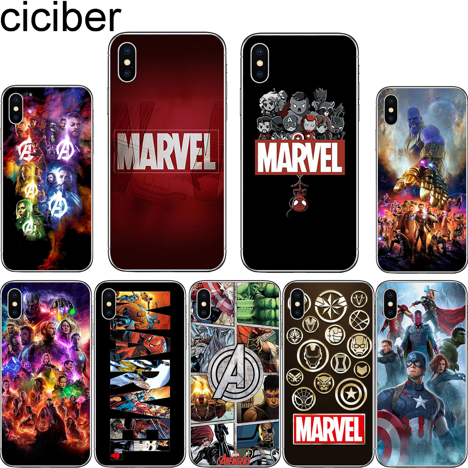 e345bef394 cicibers The Avengers Coque Phone Cases for Iphone 7 8 6 S Plus 5S SE for iphone  X XR XS MAX Soft Silicone Cover Marvel Iron Man