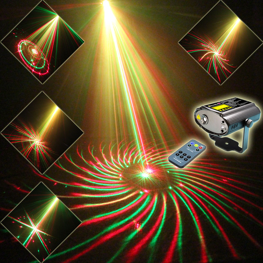 NEW Mini R&G Laser 24 Patterns Projector Dance Disco Bar Family Party Xmas Stage Lights DJ environment lighting Light Show N9H24