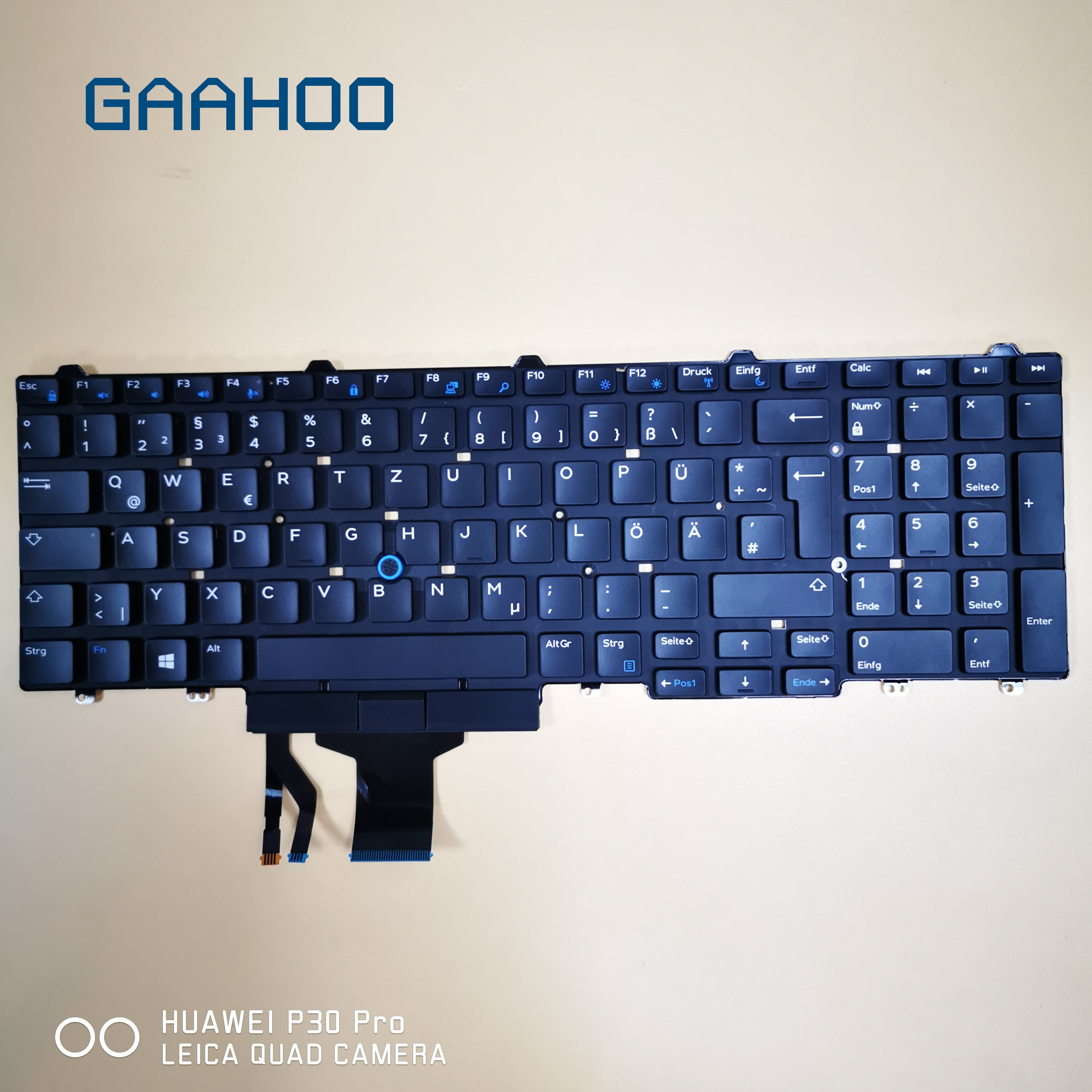 GERMANY GR <font><b>keyboard</b></font> for <font><b>Dell</b></font> Latitude 5550 5570 5580 5590 5591 PRECISION 3510 <font><b>3520</b></font> 3530 7510 7520 7710 7720 LAPTOP w/ TRUCKPOINT image