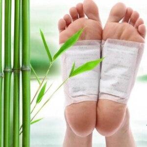 Image 2 - Kinoki Parches de desintoxicación para pies, 200 Uds. =(100 Uds. + 100 Uds. Adhesivos), almohadillas para toxinas corporales, limpieza adelgazante de pies, srmp herbaladhesivo