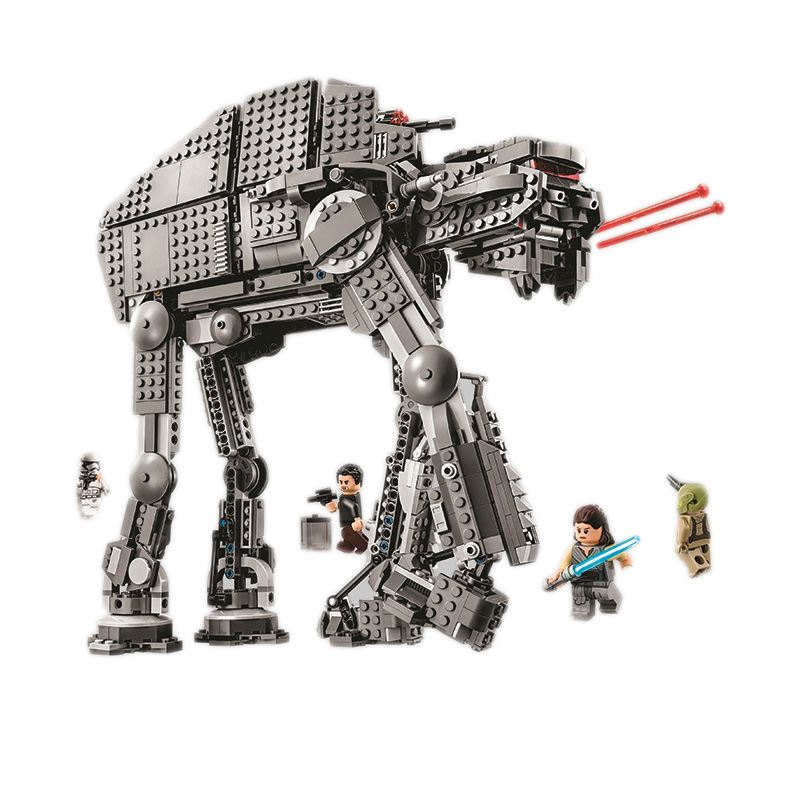 Bela 10908 Series First Order Heavy Assault Walker Building Block Bricks Compatible With 75189 For Chidlren