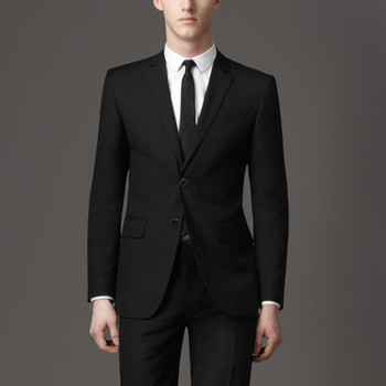 2017 new arrival Fashion men prom wedding black blazer suit casual slim fit terno masculino Jacket pants trajes de novio