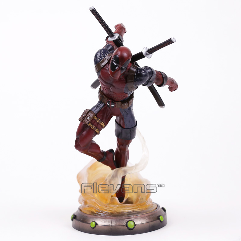 Marvel Deadpool 2 Statue PVC Figure Collectible Model Toy 35cm neca epic marvel deadpool ultimate collectible 1 4 scale action figure model toy 16 45cm ems free shipping