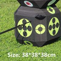 y 3D Target Dice 38cm Sides for Shooting Hunting Practice Training Arrow Target Cube For Recurve Bow Self Healing Foam