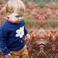 Bebé Suéter De Punto Muchachos de Las Muchachas de Suéter de Los Niños Ropa de Lluvia de Manga Larga Terry thin Jerseys Suéter Tops Blusas tire enfant