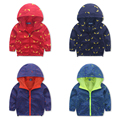 2016New  Spring Autumn Fashion Children's Boys girl Kids zipper Hooded printing Clothes Costumes Travel Leisure Jackets & Coats