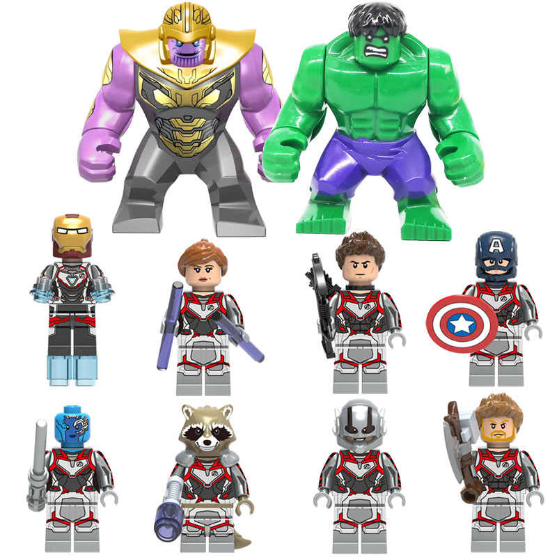 Avenger 4 Endgame Toy Figure Captain America Marvel Black Widow Nebula Building Block Brick Compatible with Lego