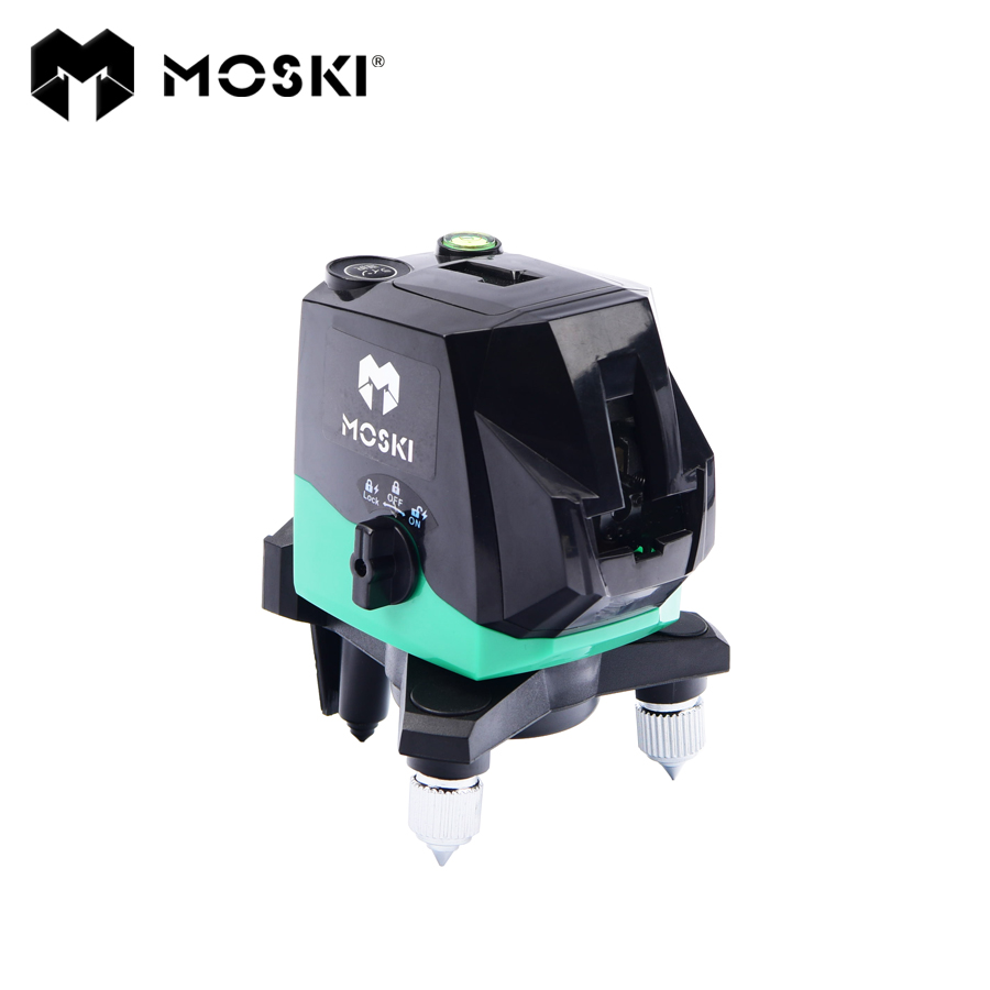 MOSKI ,2017 New model laser level, 2 red lines and 2 green lines ray laser level, red and green ray level,4 lines laser level цены