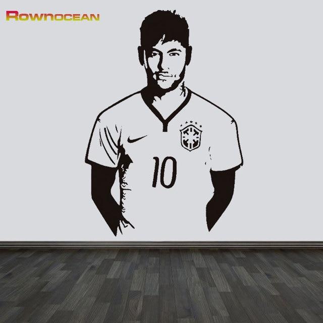 Neymar Junior Wall Art Sticker Footballer Sports Decals Diy Sport