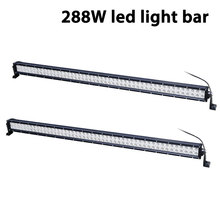 free shipping 50in light bar 288W offroad LED high power driving lamp for off road ATV UTV 4x4 buggy racing led
