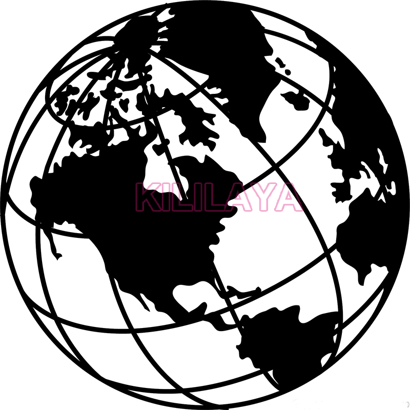 Vinyl wall art decal sticker world map globe earth country old world map drawing earth globe vinyl wall sticker removable wall art gumiabroncs Images