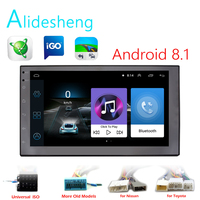 Android 8.1 GO 2 Din Car GPS Radio Player Universal Radio BT Navigation Audio Player for Nissan Toyota ISO Honda Suzuki Hyundai