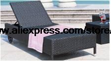 Rattan Sun Lounger Holiday beach Swing Pool Lying Chair Bed Rattan Chaise Longue Lying Chair Terrace Sun Lying Chair Ottoman