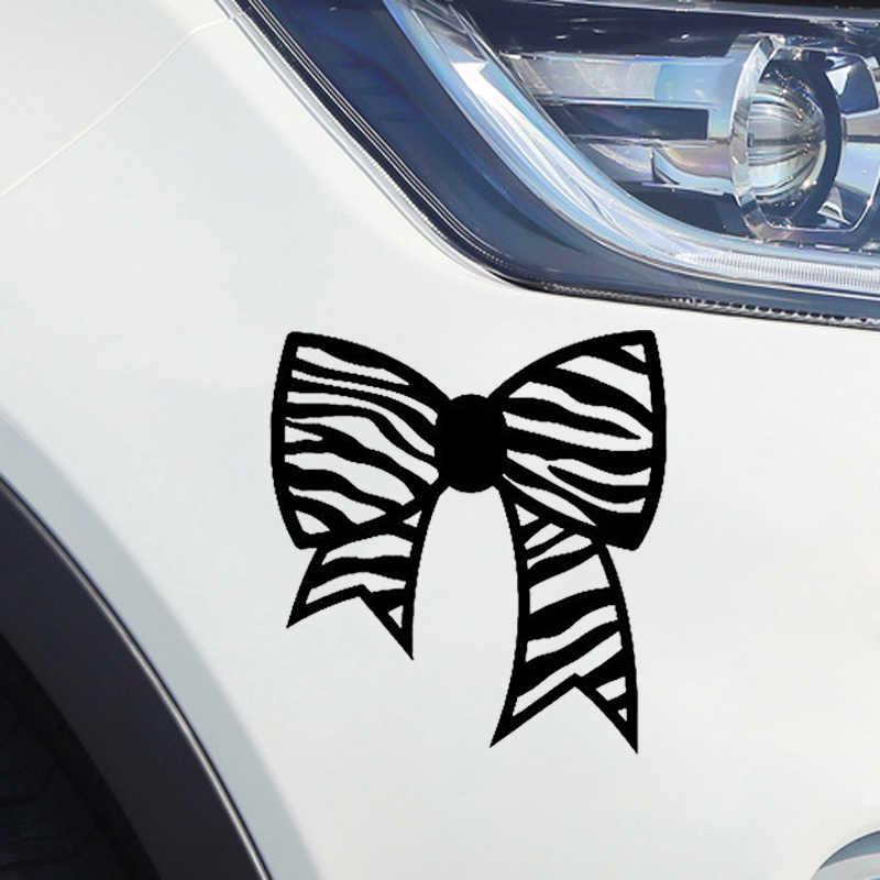 زيبرا القوس ملصق لاصق لامع ورائع الشعر المصمم لنافذة مرآة سكرابوكينغ الفن لطيف ومثيرة للاهتمام سيارة ملصقا