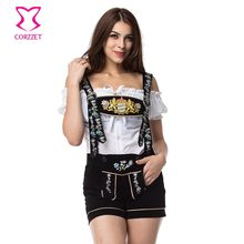 Lady Lederhosen Beer Girl Costume Cosplay Sexy Miss Maid Oktoberfest Party Halloween Costumes For Women