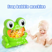 цена на Frog Bubble Children Electric Blow Bubble Automatic Bubble Machine Outdoor Toy New Creative Polyporous Wedding Party Machine