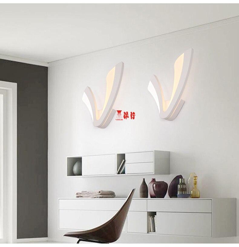 Applique Design Camera Da Letto.Led Lampada Da Parete Moderno Acrilico Sconce Ac90 260v Wandlamp