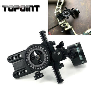 Compound Bow Hunting Accessories Single Needle Sight Aluminum Adjustable Pointer HRD Technology for Archery Hunting Shooting