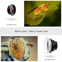 Universal Macro Photography Lenses 12-24X Super Macro Lens for Mobile phones Camera Lens 24XMH
