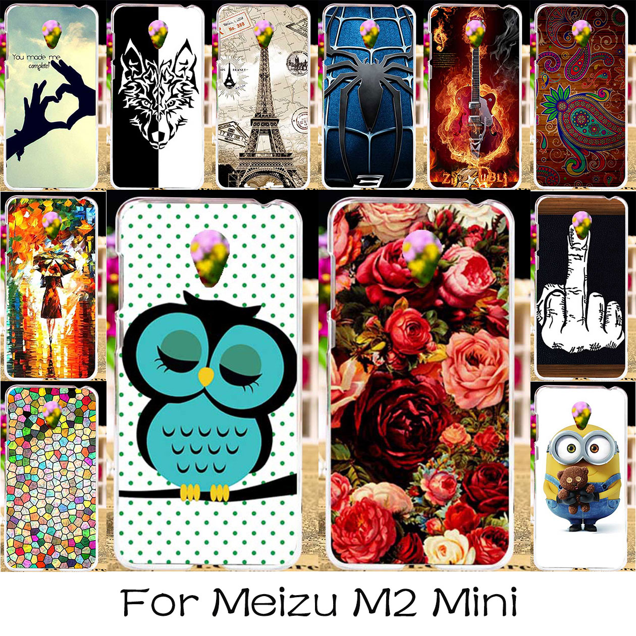 TAOYUNXI Silicone Plastic Phone Case For Meizu M2 Mini Meilan 2 Dual SIM 4G LTE Meilan2 Bag Cover For Meizu M2 Mini Painted Case