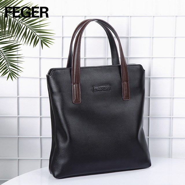 48eed5690980 FEGER Man Vertical crossbody bag Men Messenger Business Men s Briefcase  Designer Handbags High Quality Shoulder Bags