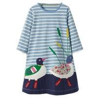 Robe Fille Enfant Girls Summer Dress 2017 Brand Princess Dress Children Costume Striped Animal Print Kids