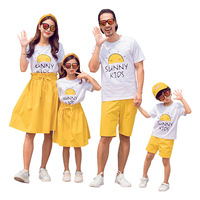Family Clothing Sets Mother Father Baby Clothes Mommy and Daughter T shirt Skirt 2pcs Dad Son Tops Shorts Matching Family Outfit