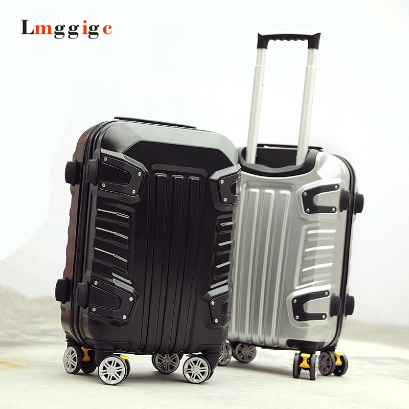 New Luggage Travel  Suitcase,Male personality Universal Wheels ,Strong ABS+PC Hard Shell Trolley Box Carry-Ons with Rolling