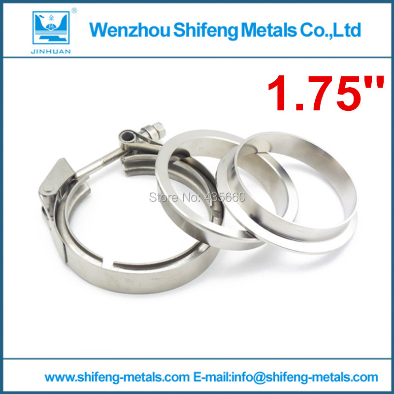 1 75 Stainless steel 304 high anti rust exhaust downpipe quick opening vband clamp flange assembly