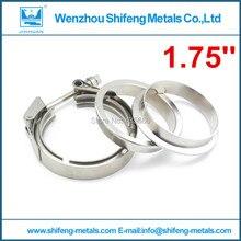 """1.75 """"de acero Inoxidable 304 de alta anti óxido de escape bajante de apertura rápida vband clamp brida de montaje"""