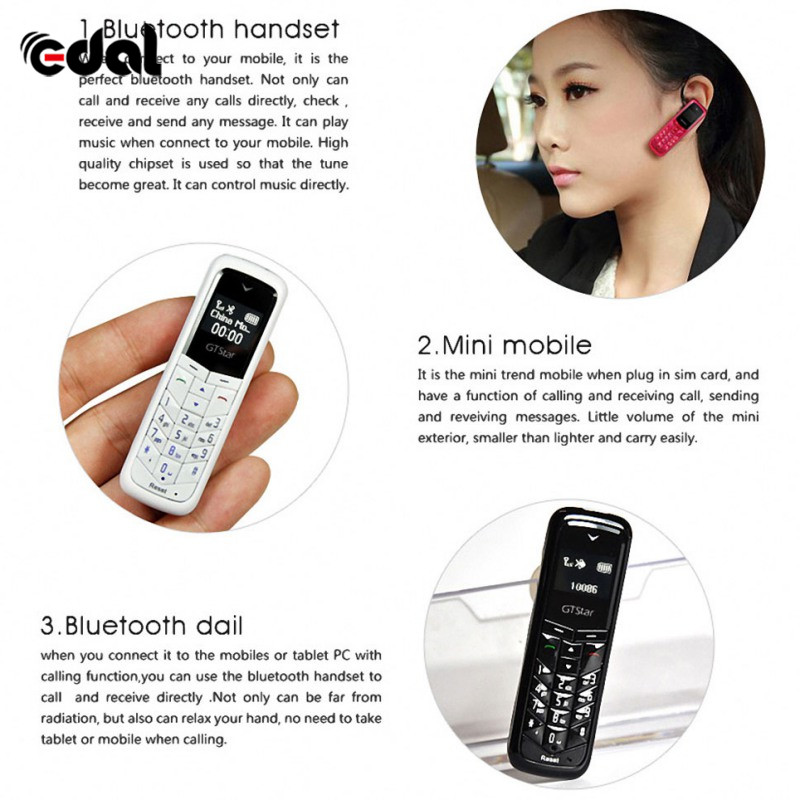 EDAL Fashion BM50 Headphone Pocket Phone Charging Mini Bluetooth Headset Earphone Dialer Stereo Support SIM Card Dial Call ...