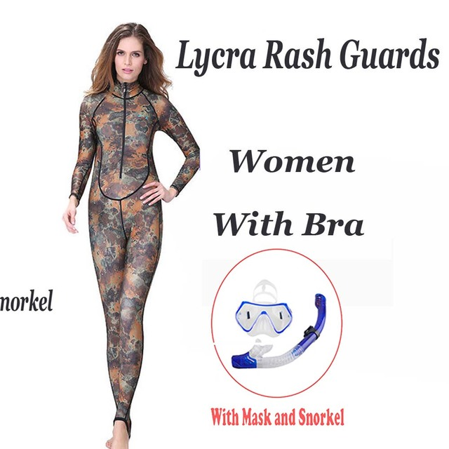 WYOTURN Women Long Sleeve Rash Guard Swimwear One Piece Rashguard Plus Size Zipper Lycra Surf Shirt Swimsuit Man Kitesurf Suit