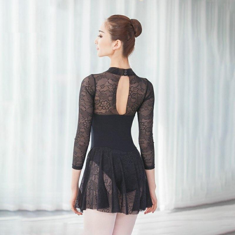 Gymnastics Leotard For Women Sexy Lace Standing Collar Adult Ballet Leotards Stage Performance Dance Dress Bodysuit Costume