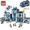 Enlighten Building Block City Police 2 In 1 Mobile Police Station 7 Figures 951pcs Educational Bricks