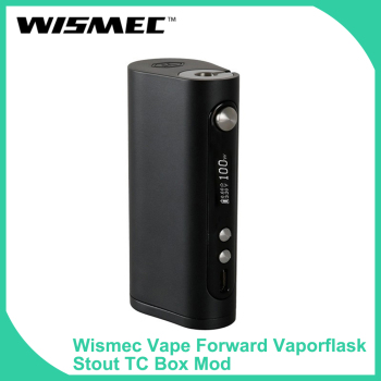 Original Wismec Vape Forward Vaporflask Stout TC Box Mod 100W TC-Ni/TC-Ti/TC-SS mode Electronic Cigarette box mod VS GEN3 DUAL original ehpro 2 in 1 fusion 150w tc kit max 150w w fusion mod