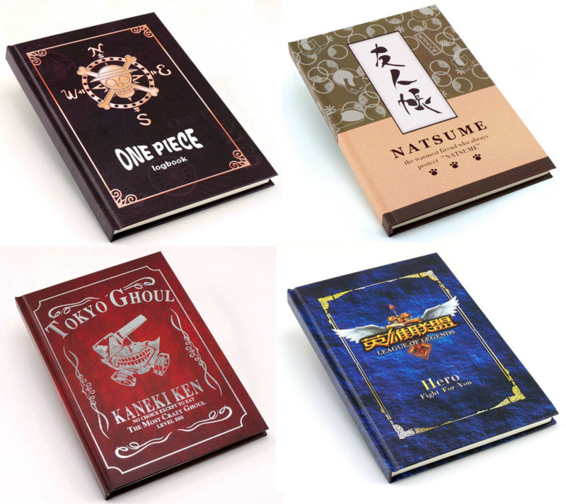30 pcs lot Anime cosplay notebook Naruto One Piece SAO Attack on Titan Tokyo Ghoul Natsume