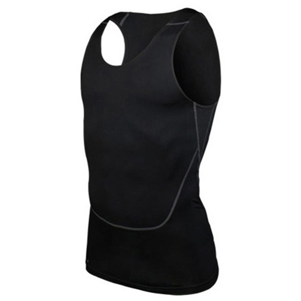 Chic Men Compression Base Line Fitness Sleeveless Shirt Vest Breathable Top S-2XL Hot